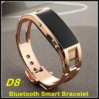 D8 Stainless Steel Sports Bluetooth Smart Bracelet Intelligent Wrist Watch Sleep Monitor Pedometer Reminder Anti-Lost Caller ID