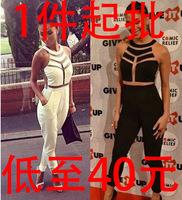 4141 sexy nightclub gauze bandage jumpsuit