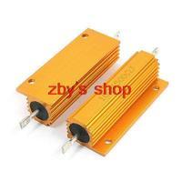 2pcs Chassis Mount Aluminum Wirewound Power Resistors 100 Watt 500 Ohm