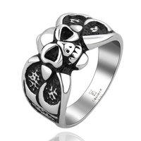 Men's Punk Ring 316L Stainless Steel Vogue Skull Ring For Women!Free Shipping!GMYR009