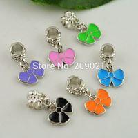 DIY 100pcs Mixed Color apple Enamel Dangle Charm European Beads Jewelry making