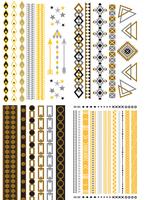 ( 4 piece )Fashion 2015 women jewelry temporary tattoo stickers egyptian body tatoo stickers ,T05-08