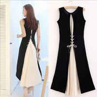 High Quality Bohemia Modal Chiffon Casual Dress Women 2015 New Spring Ladies Plus Size Long Tank Dresses Vestidos Femininos