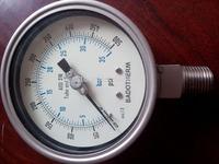 "2.5"" inch 0-6Bar  Pressure Gauge All Stainless Steel"