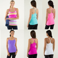 Hot Selling Sports Popular women's yoga Vest sleeveless Tops Active Tanks & Camis Vest Size 2-4-6-8-10-12 Free Shipping