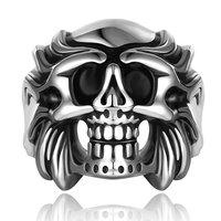 Men's Punk Ring 316L Stainless Steel Vogue Skull Ring For Women!Free Shipping!GMYR032
