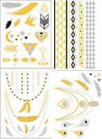 ( 4 piece )Fashion 2015 women jewelry temporary tattoo stickers scraphook body art necklace tatoos sticker ,T09-12