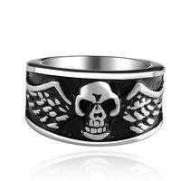 Men's Punk Ring 316L Stainless Steel Vogue Skull Ring For Women!Free Shipping!GMYR013