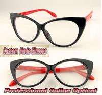 Cat eye shape Many occasions essential Custom made optical lenses Reading glasses -1  -1.5 -2 -2.5 -3 -3.5 -4 .0 -4.5 -5 -5.5 -6