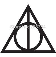 "4"" Harry Potter Deathly Hallows Symbol Vinyl Decal Car Window Laptop Sticker Car Styling"