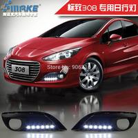 LED DRL,daytime running lights for Peugeot 308,led fog lights for 308,free shipping