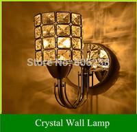 E14 5W LED Warm White Continental Crystal Wall Minimalist Modern Creative Bedside Lamps Bedroom Living Room Corridor Light
