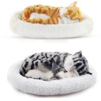 Snoring breathing furry sleeping plush toy Cat Animal Toy Electronic Cat Children Gifts Electronic Pets Simulation Pet