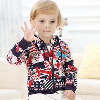 Autumn Children Outerwear Coats Cartoon Boys Hoodied Jackets Brand Spring Baby Sport Clothes Long Sleeve Kids Zipper Coat CT135