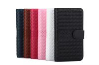 For Samsung Galaxy Note4 case cover New luxury flip handmade Braid leather wallet stand for Sansung Galaxy Note 4 N9100 cover