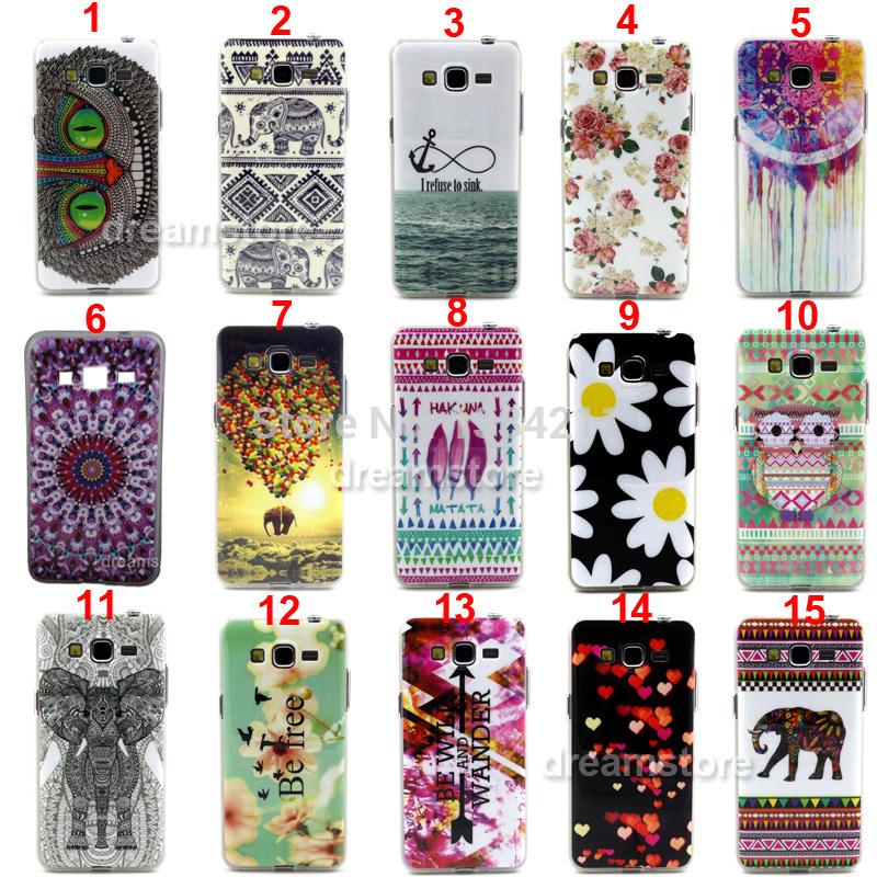 Rose Elephant Carousel Tpu Case Cover For Samsung Galaxy Grand Neo i9060 / i9082(China (Mainland))