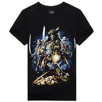 Skeleton Pirates Printed Cool Mens Casual t-shirt Tops Short Sleeve Shirt Tee for man L XL XXL XXXl