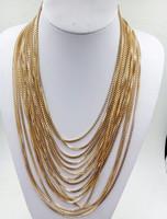 Original   European and American big pendant clavicle chain necklacemulti-layer winding Venice 012