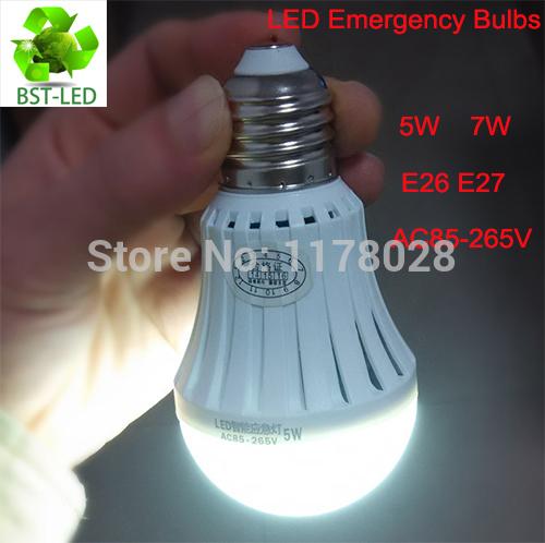 100 x LED Smart Bulb 5W 7W led emergency light rechargeable battery E27 E26 B22 Lamp for home 2835smd bombillas AC110V 220V CE(China (Mainland))