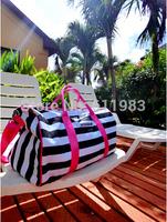Travel bag striped Travel Duffle new beach bags canvas bag handbag shopping bag shoulder slope across packages big bag