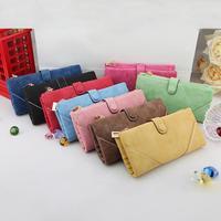 New Women Vintage Fashion Leather Wallet Button Clutch Purse Lady Retro Long Handbag Bag A2