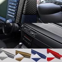 Wholesale High Quality 152*60 cm  DIY 4D Black Glossy Carbon Fiber Vinyl Wrap Sticker Decal Air Release Computer Car Sticker A2