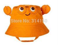 Tou-Children Summer Cartoon Hat Orange Baby Hats Fashion Infant Pure Cotton Sun Hat Cute Cartoon Model 1pcs free shipping