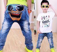 children denim pants Cool boy hippop jeans spring autumn kids trousers Wholesale and Retail YCZ045