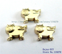 Free shipping  flying pig Floating charms DIY Accessory Fit for Floating charms Locket FC518