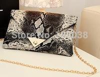 Hot sale 2015 spring vintage women handbags serpentine pattern one shoulder bags messenger bag day clutch bags envelope bags