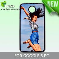 For Google Nexus 6 sublimation plastic case,Sublimation PC case,100pcs/lot