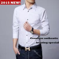 ZA2015 new men shirts, han edition business casual long sleeve shirts15012302