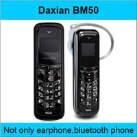 free shipping new bluetooth headset unlocked mini mobile phone BM50 Bluetooth dialer original bt phone in stock