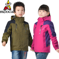 New arrival 2014 outdoor children's parent-child clothing outdoor jacket twinset three-in disassembly fleece liner