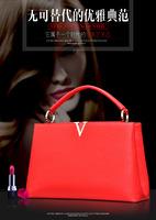 2015 Women's fashion handbag trend of the portable shoulder bag leather bag genuine leather bag famous designers brand tote