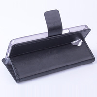 Luxury Business Flip leather Case Skin For Alcatel One Touch Idol X+ 6043D cover for TCL S960  card holder, stand free shipping