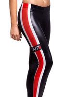 LuckDy HOT! SEXY! Womens red black white vertical stripes leggings Galaxy Milk Supernova Sale Women Digital Printed Pants