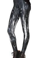 LuckDy Hot! Supernova Sale Womens Black Mechanical tube bubble LEGGINGS Digital Printed Milk Vintage Plus Size Pants
