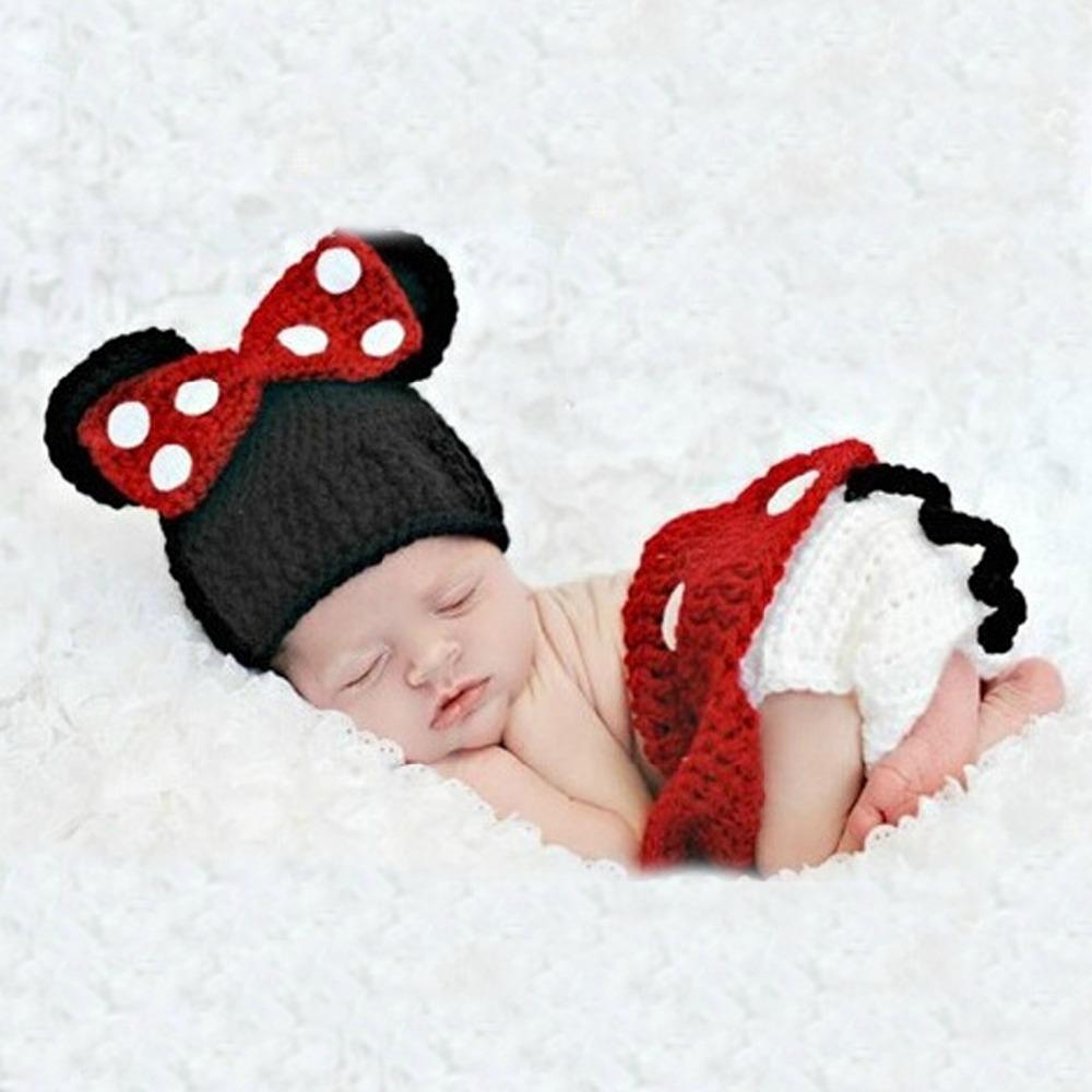 Photography studio children clothing Neonatal cartoon sweater Manual wool knitting baby pictures Minnie(China (Mainland))