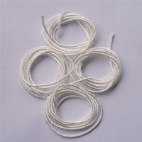 Top Quality Twisted High Silica Fiber Wick Different Diameter Fiberglass Rope No Burning Taste Glass Fiber Wick K94