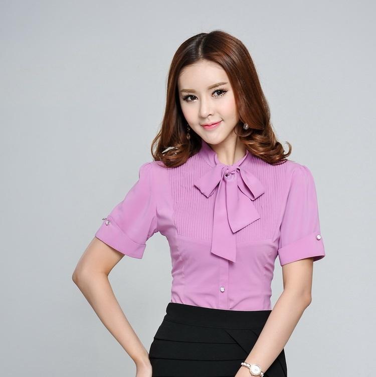 Amazing Women OL Long Sleeve Office Lady Women Blouse Blusas Blouses Work Wear