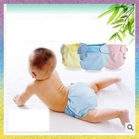 [Baby Nappies]Free Shipping 3pcs/lot B1178 Bamboo fiber cloth diapers suits Urine breathable baby diapers Huggies Merries