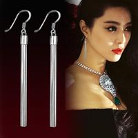 Newest Fashion Six Ears Line Tassel Long Earrings 925 Sterling Silver Chain Dangle Earrings For Women Free Shipping