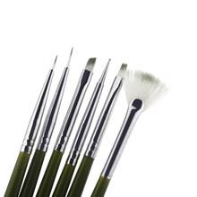 New 6Pcs Nail Brush Nail Art Design ainting Tool Pen Polish Brush Set Kit DIY Professional Nail Tools(China (Mainland))