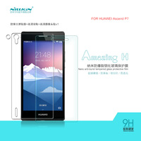 Tempered Glass Screen Protector for Huawei Ascend P7 NILLKIN Amazing H Nano-burst Tempered Glass Screen Film+ back film