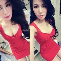 new 2015 4 Colors new women mini plus size dress chic party spring Fashion club wear Sexy bandage vestidos B16