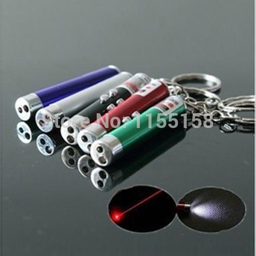 A28 Multi-fonction red laser pen light mini led flashlight money detector lamp combination pointer pen pointer T1387 P(China (Mainland))
