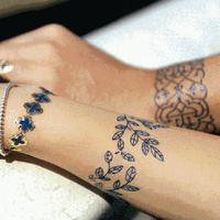Gold Silver Black Metallic Temporary Tattoo Flash Tattoos Flash Inspired Sticker Wholesale Free Shipping