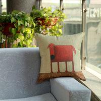 New design Home Decorative Sofa Cushion pillow cover Throw pillowcase 45*45cm dakimakura Cotton Linen Square red dog