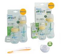Lot 4 AVENT Standard Feeding Bottles+Spoon+2 Teats 6M+Avent Pacifier Avent bottles for NewBorn Baby Starter Gift Set/Kit/Pack